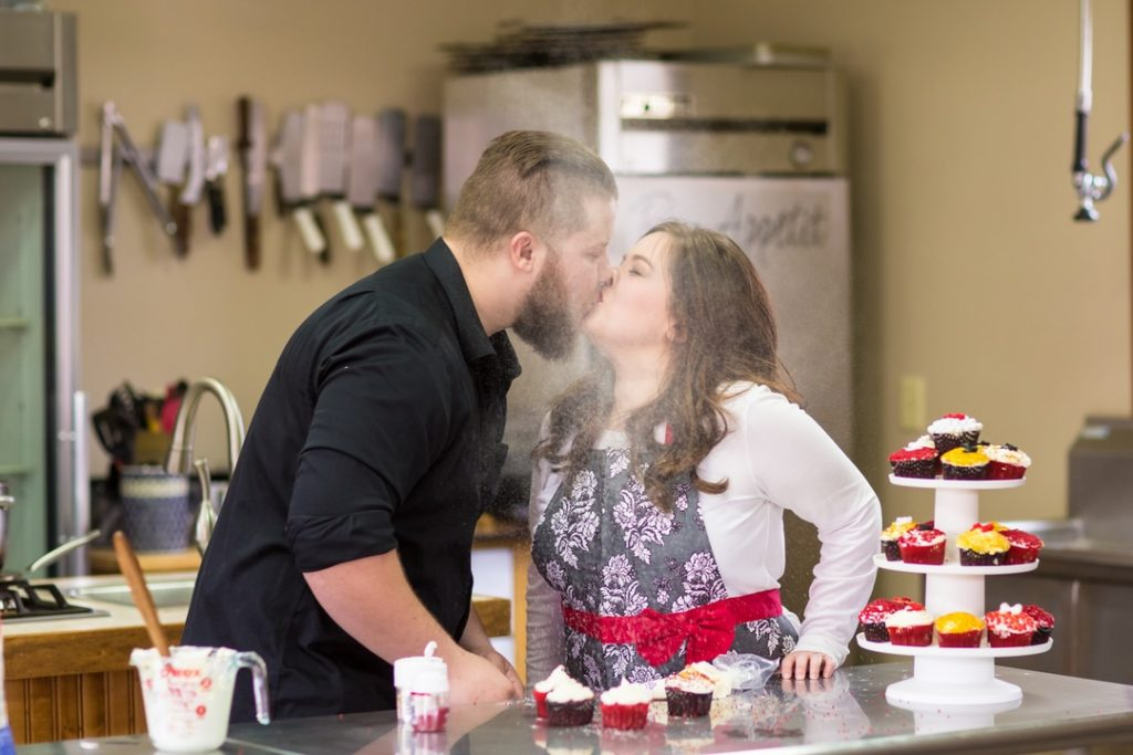 Cooking inspired Engagement Photos | My Kitchen WV | Scotty + Brittany
