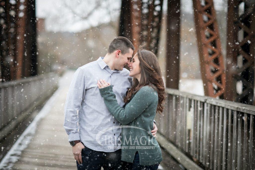 WV Engagement Photographer | WV Winter Engagement Photos | Ben + Kayla